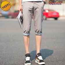 summer style capri summer style 2017 thin casual slim fit khaki capri leisure trousers