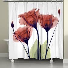 Kess Shower Curtains Bathroom Picturesque Red Tip Tulip Shower Curtain Kess Inhouse