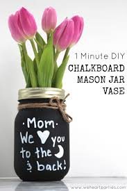 mothers day gifts ideas easy s day chalkboard jar vase jar crafts