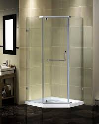 Angled Glass Shower Doors Shower Neo Angle Glass Shower Doors Frameless Smithtown Ny X