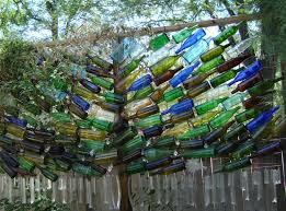 Glass Garden Art Co Horts Wine Bottle Art In The Garden