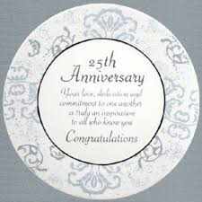 25 wedding anniversary gift 25th wedding anniversary plate findgift