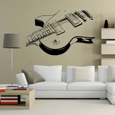 New Design Fine Sketch Creative Personality Guitar Home - Design wall decal