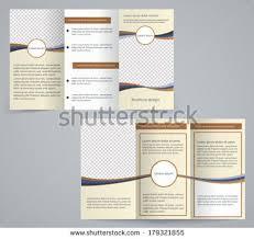 spa tri fold brochure vector template download free vector art