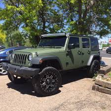 first jeep wrangler jeep wrangler with matte military green vinyl wrap 2 5