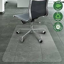 Mat For Under Desk Chair Amazon Com Office Marshal Chair Mat For Hard Floors Eco