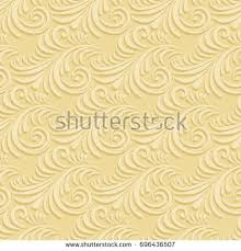 Seamless Background Paper Volumetric Seamless Floral Pattern Background Paper Stock Vector