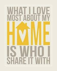 who i my home with quote picture