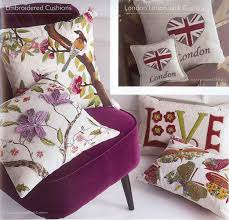 Blue Union Jack Cushion Cushions At Linen Lace And Patchwork In A Wide Range Of Designs