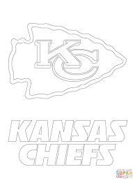 kansas city chiefs logo coloring page free printable coloring pages