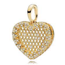 necklace pendants pandora images Pandora shine honeycomb lace pendant