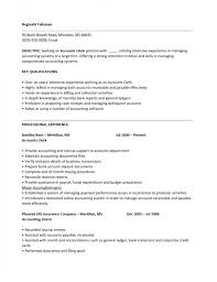 resume objective exles for accounting clerk descriptions in spanish resume career objective exle summary of exlesance clerk
