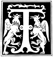 decorative initial letter u201ct u201d from 16th century