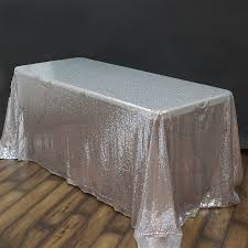 90 x 132 silver sequin tablecloth from balsa circle