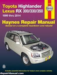 lexus rx300 towing h92095 haynes 2001 2007 toyota highlander 1999 2006 lexus rx 300