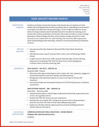 data analyst resume good resume format