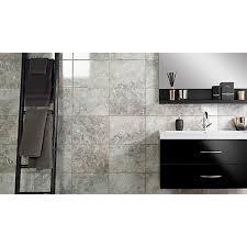 wickes bathrooms uk wickes avellino cappuccino grey ceramic tile 360 x 275mm wickes