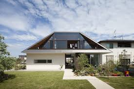 glass roof house modern house with hipped glass roof in japan freshome com