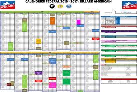 Calendrier Fdration Franaise De Calendrier Billard Américain Saison 2016 2017 Fédération Française