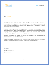ideas collection sle colleague thank you letter for your letter