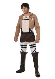amazon com attack on titan eren costume clothing