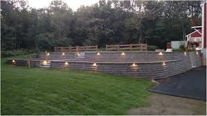 Tiered Backyard Landscaping Ideas by Backyards Gorgeous Retaining Wall In Backyard Backyard Images