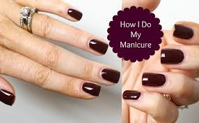 how to get perfect nails my manicure tutorial youtube
