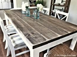 kitchen table furniture diy dining room table with 2x8 boards from lowes this is the coolest