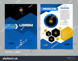 blue vector leaflet brochure flyer template stock vector 421422127