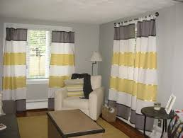 Yellow Stripe Curtains Gray Striped Window Curtains Home Design Ideas