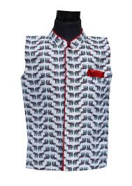 elephant print nehru jacket u2013 the ethnic fix