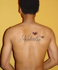 name tattoos on back for men tattoomagz