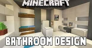minecraft bathroom ideas minecraft tutorial bathroom and furniture design ideas modern