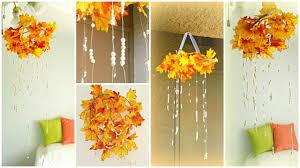 Homemade Fall Decor - fall decor diy fall leaves chandelier youtube