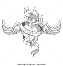 sword in heart tattoo sketch photos pictures and sketches