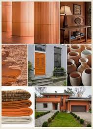 give your home a warm glow with this mix of terracotta red and