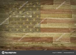 American Flag Backdrop Brown Wood Texture And Background Faded American Flag Painted