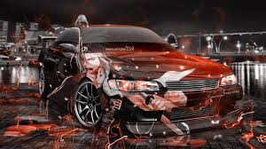 orange cars 2016 toyota mark2 jzx90 jdm anime samurai aerography city energy car