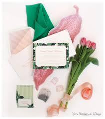Carlton Cards Invitations Emerald Tea Party Banana Leaf Shower Invitation Tea Bag Escort