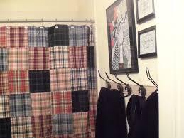 green plaid shower curtain u2022 shower curtain