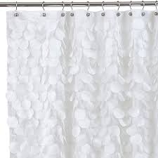 gigi fabric shower curtain in white bed bath u0026 beyond