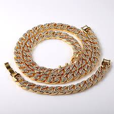 aliexpress buy nyuk new fashion american style gold nyuk new statement miami cuban link chain gold fully iced out hip