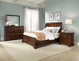 Sleigh Bed With Drawers Provence Louis Phillipe Dark Cherry Finish Sleigh Bed With Storage