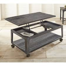 rectangle lift top coffee table springdale industrial style 48 inch rectangle lift top coffee table