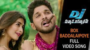 box baddhalai poye song dj songs allu arjun