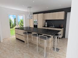 cuisine chene clair moderne awesome cuisine noir plan de travail bois blanc images design avec d
