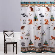 Bathroom Decor Shower Curtains Woodland Shower Curtain Fabric Bathroom Bathtub Boys