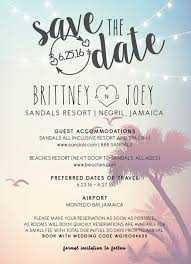 destination wedding save the dates save the date jamaican wedding invitation ideas weddings by funjet