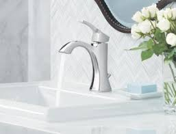moen bathroom sink moen voss one handle high arc bathroom faucet with drain assembly