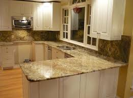 countertops kitchen granite backsplash pictures flat island with